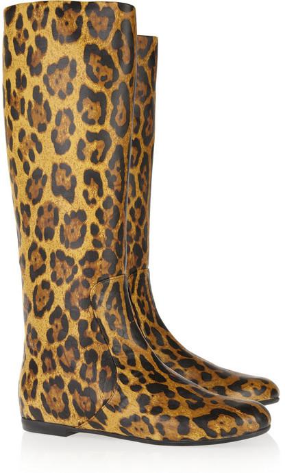 Giuseppe Zanotti Leopard-print leather boots