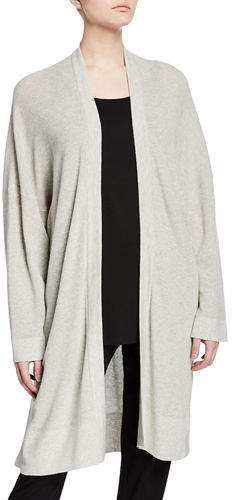 Eileen Fisher Organic Cotton/Silk Long Cardigan