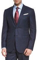 Ermenegildo Zegna Milano Plaid Two-Piece Wool Suit, Blue