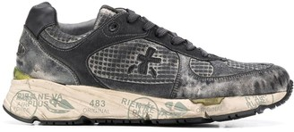 Premiata Mase distressed-effect sneakers
