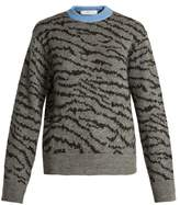 Toga Animal-jacquard wool-blend sweater