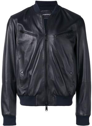 Emporio Armani Leather Look Bomber Jacket