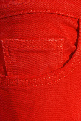 Current/Elliott The Kick Cropped Mid-rise Straight-leg Jeans