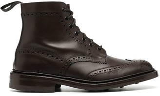 Tricker's Burnished Brogue-Detail Boots