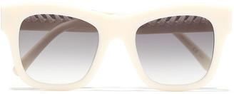 Stella McCartney Square-frame Chain-trimmed Acetate Sunglasses