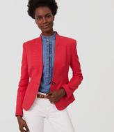 LOFT Textured Collarless Blazer