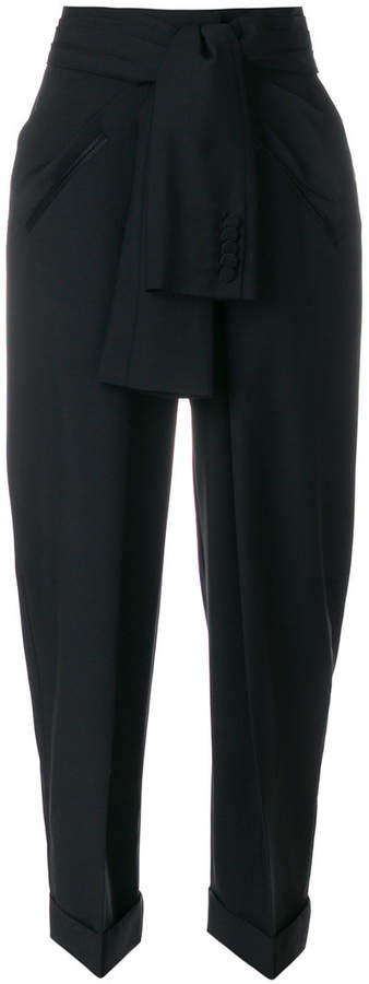 Alexander Wang knotted waist trousers