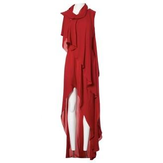 Elie Saab Red Silk Dress for Women