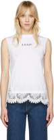 McQ by Alexander McQueen White Lace Tank Top