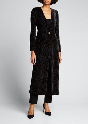 MARTIN MARTIN Glittered Velvet Long Coat