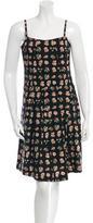 Thakoon Rose Print Pleated Dress
