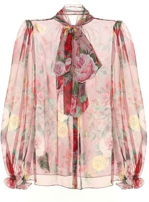 Dolce & Gabbana Floral silk-chiffon blouse