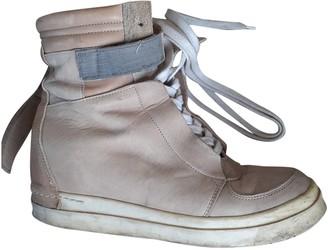 Cinzia Araia Beige Leather Boots