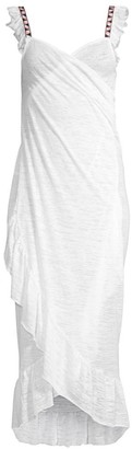 Pitusa Crossover Ruffle Dress