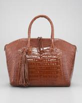 Nancy Gonzalez Tasseled Zip-Top Tote Bag