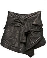 Proenza Schouler Leather Wrap Jacket Skirt