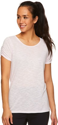 Gaiam Women's Zen Ruched Sleeve Tee