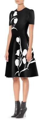 Carolina Herrera Floral Fit-And-Flare Dress