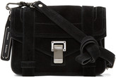 Proenza Schouler Black Suede Mini PS1 Crossbody Bag