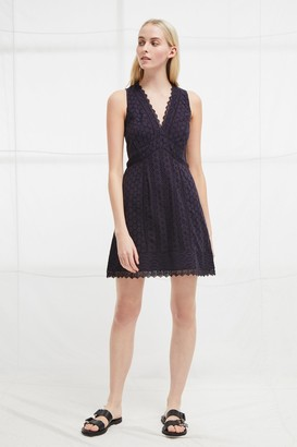French Connection Zhara Lace Panelled Dress