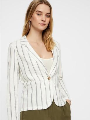 M&Co Vero Moda stripe linen blazer