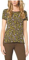 Michael Kors Leopard-Print T-Shirt Petite