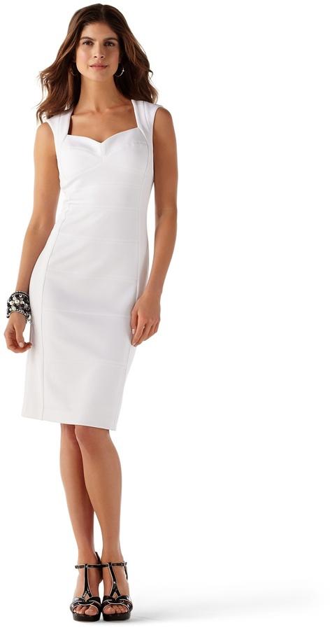 White House Black Market Open-Back Sheath Dress