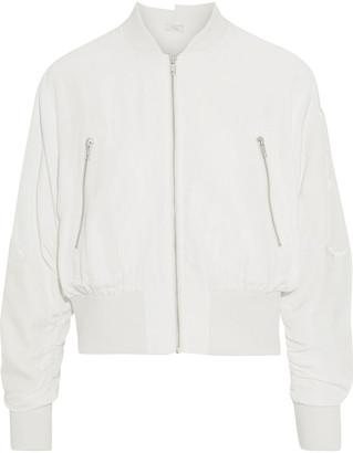 Clu Velvet-appliqued Cupro-blend Bomber Jacket