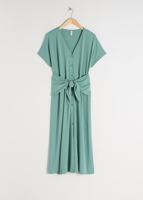 And other stories Waist Tie Midi Dress
