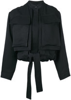 Tom Ford cropped pocketed jacket - women - Silk/Linen/Flax/Acetate - 36