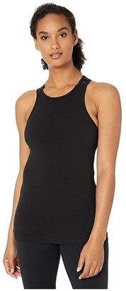 Hard Tail Logo Hi-Neck Tank (Black) Women's Sleeveless