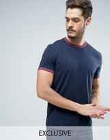 Jack Wills Baildon Ringer T-Shirt in Navy