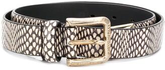 Just Cavalli Snake Pattern Belt