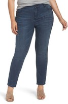 Caslon Plus Size Women's Side Panel Skinny Ankle Jeans