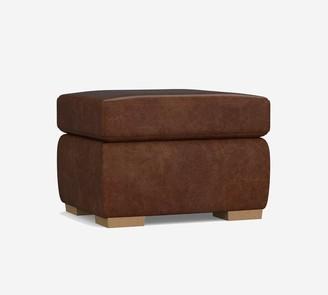 Pottery Barn Bodega Leather Ottoman