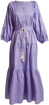 Gisy Coriander Amethyst Maxi Dress