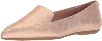 Taryn Rose Women's Faye Powder Metallic Loafer Flat
