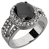 Dillard's Boxed Collection Black Oval-Cut Cubic Zirconia Ring