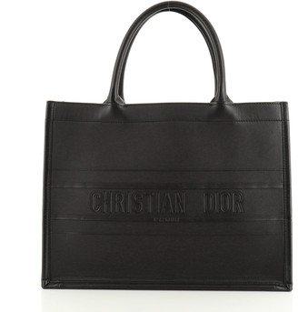 Christian Dior Book Tote Embossed Leather Small