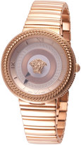 Versace 40mm V-Metal Icon Bracelet Watch, Rose Golden