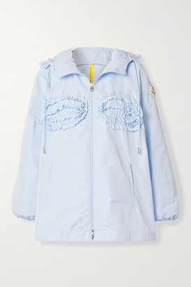 MONCLER GENIUS 4 Simone Rocha Nervillia Hooded Ruffled Shell Jacket - Light blue