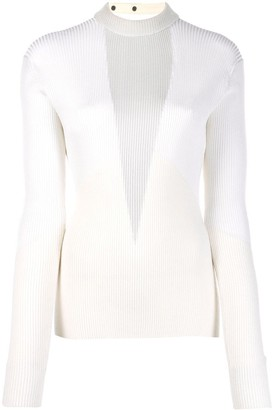 Zilver Ribbed Knitted Top