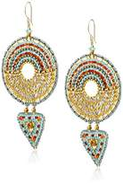 Miguel Ases Large Geometric Duo-Drop Earrings