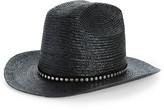 Saint Laurent Studded Cowboy Straw Hat