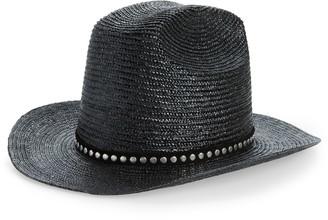 Saint Laurent Studded Cowboy Straw Hat