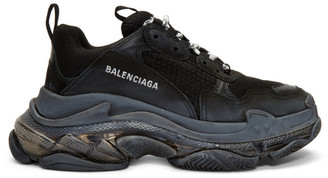 Balenciaga Black Triple S Clear Sole Sneakers