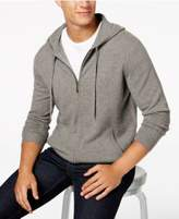 Club Room Men's Cashmere Full Zip Hooded Sweater, Created for Macy's