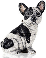 Judith Leiber Couture Crystal-Embellished French Bulldog Clutch Bag