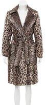 Karen Millen Faux Fur Trench Coat