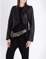 Ann Demeulemeester Asymmetric leather biker jacket